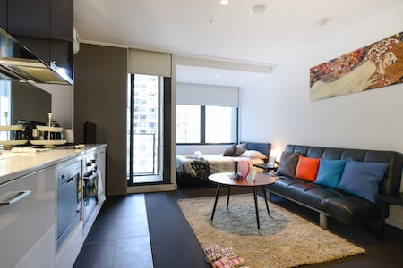 The Onyx studio in Melbourne CBD - Melbourne - Appartement