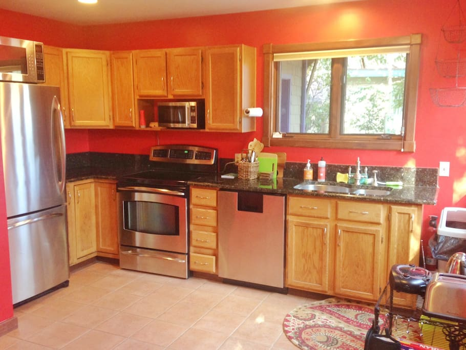 A fully stocked kitchen is available for your cooking pleasure.