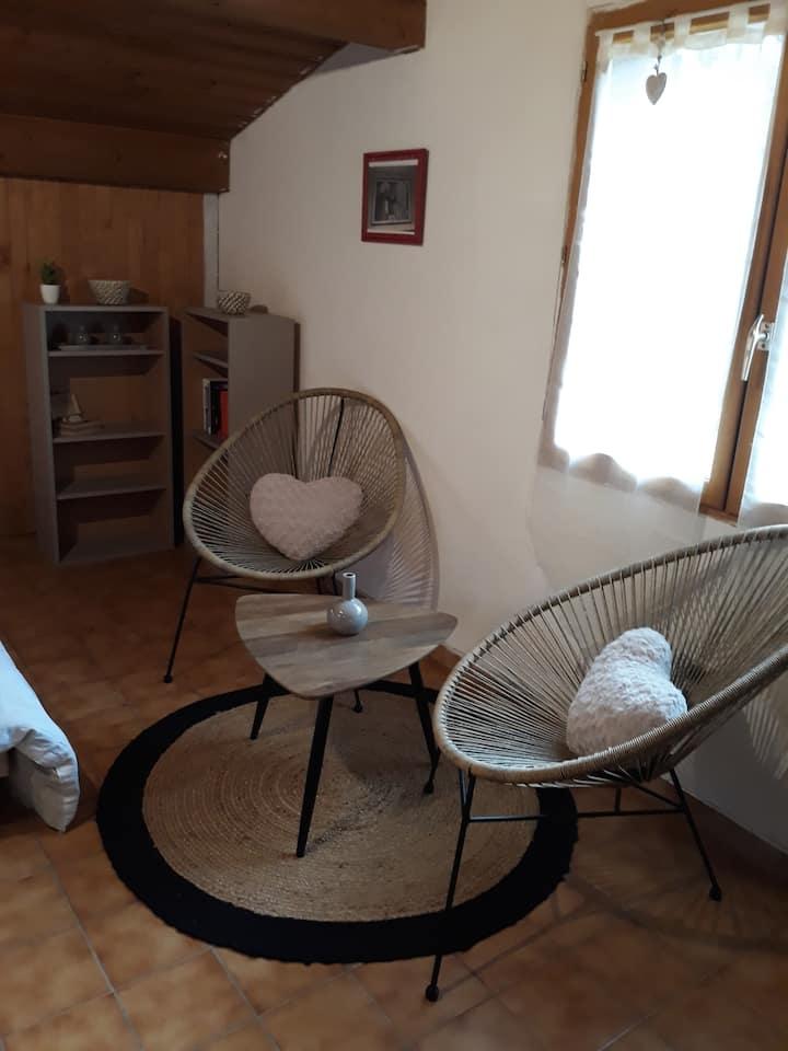 Studio chaleureux pour 2 personnes