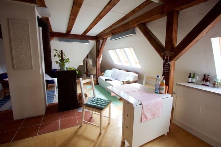 gemütliche Dachgeschosswohnung - Schwäbisch Gmünd - Daire