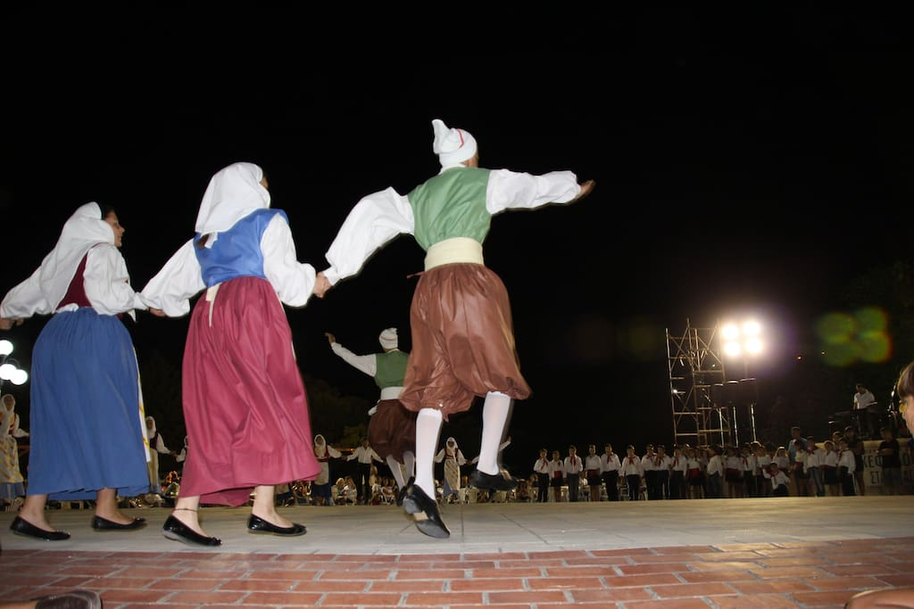 At the main square during summer there are often events