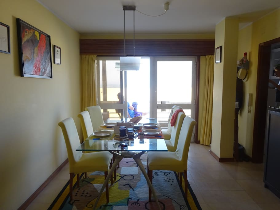 Dining room with ground floor sea view