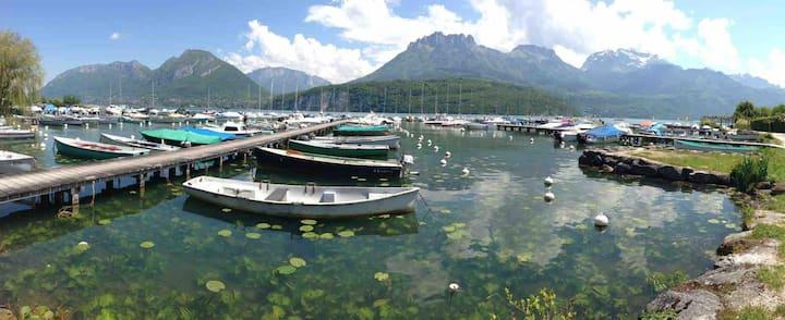 Gîte du Lac d'Annecy Superbe Appart avec Jardin