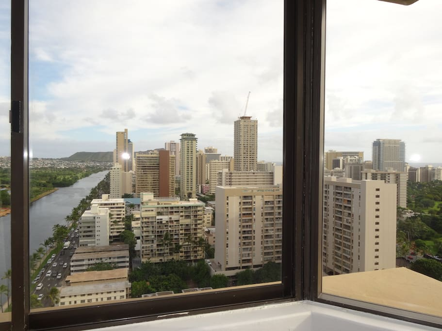Canal and diamond head view from Studio A