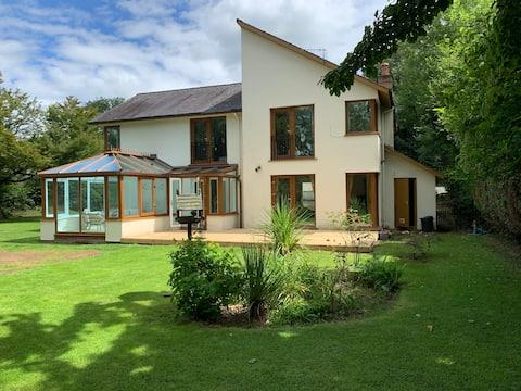 8 miejsc noclegowych River Retreat w Glasbury, Hay & Brecon