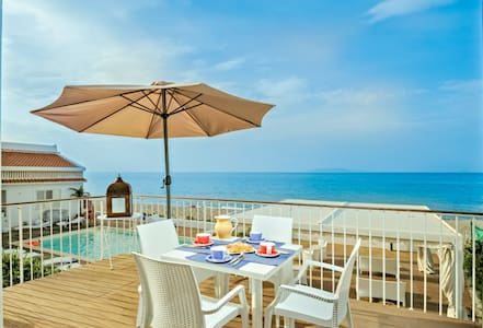 Beach-side with pool- Stromboli A - Terme Vigliatore - อพาร์ทเมนท์