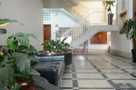 The most desired location in Mexico City, steps from the Metro and Avenida Reforma. Bedroom with Queen, closet, and private bathroom. Floor to ceiling window overlooking the park. Quiet, super safe and convenient to all major attractions nearby.