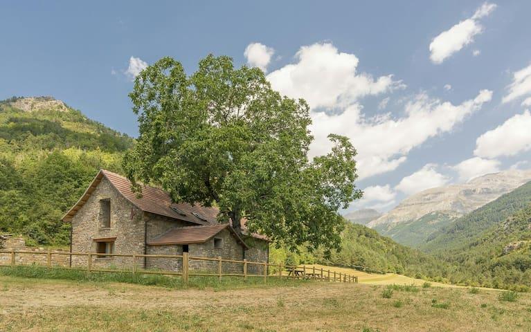 Borda rehabilitada en pleno Pirineo - Valle de Hecho - Rumah