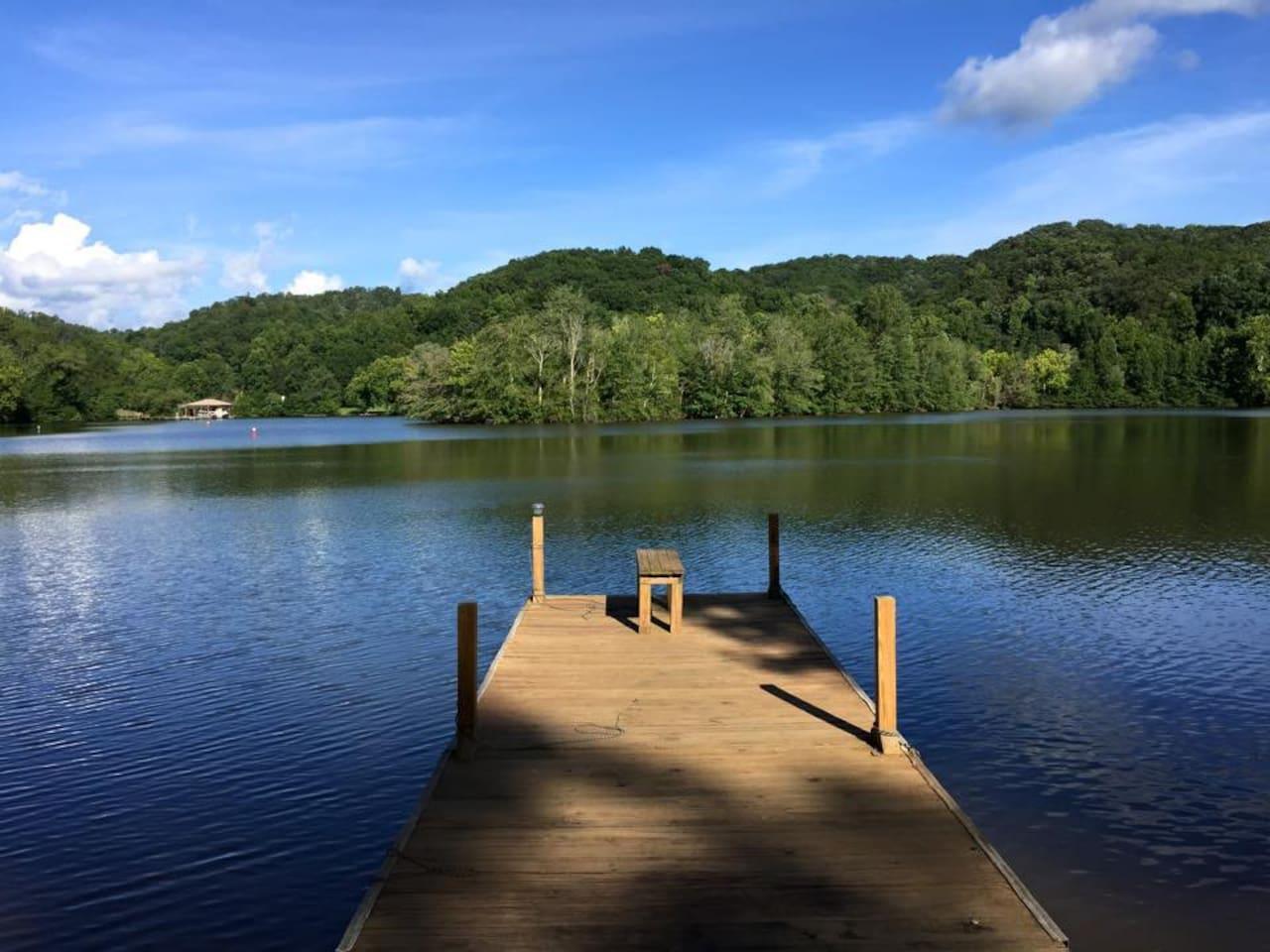 Serene, lakefront property.