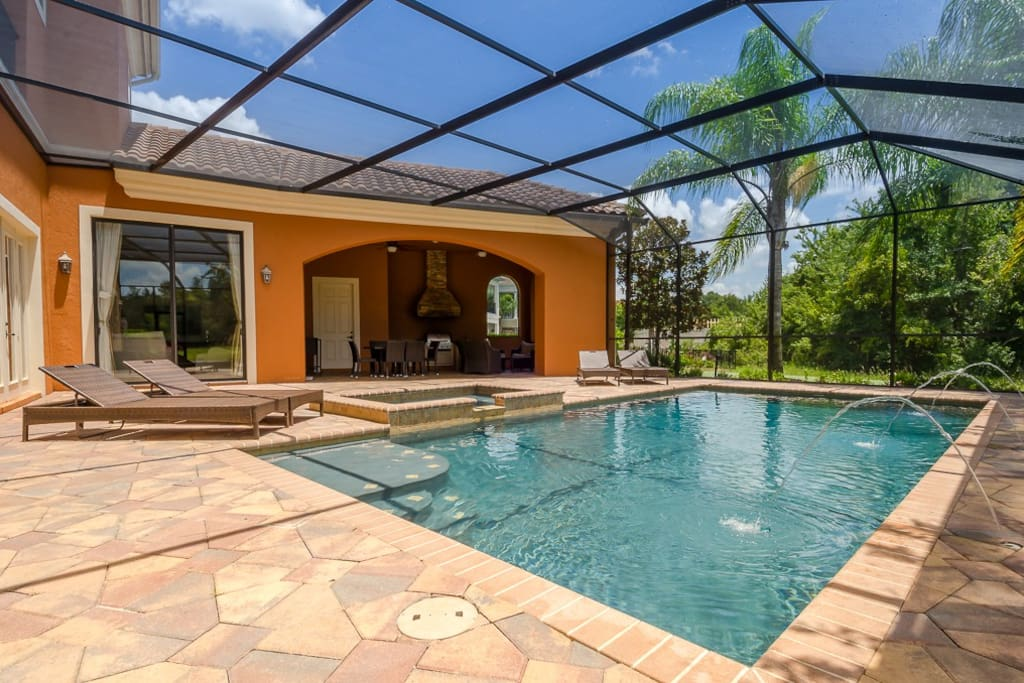 Built on one of the widest lots on Reunion up to 3 times wider at rear than many homes = amazing pool and outdoor living
