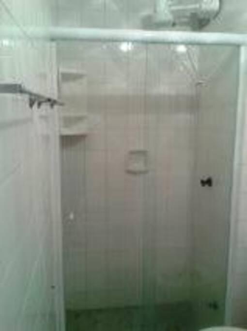 Banheiro de Blindex!