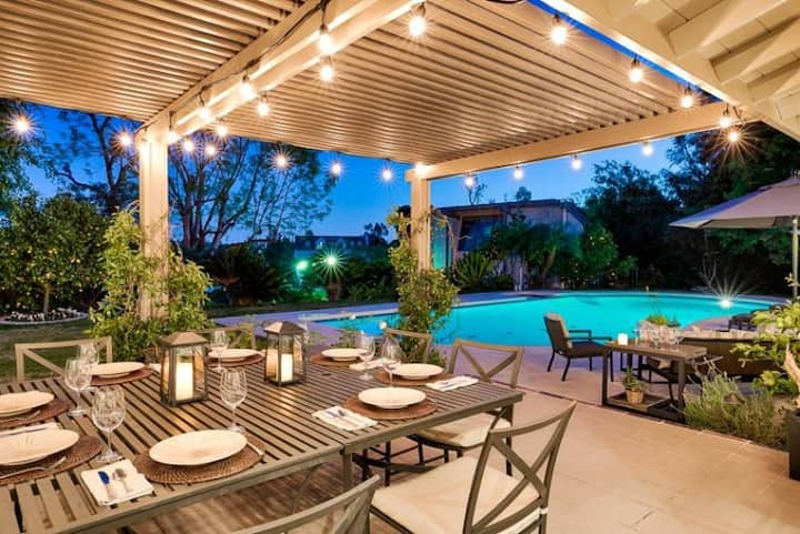 Stunning Estate w/ Pool, Fire Pit & Private Tennis Court