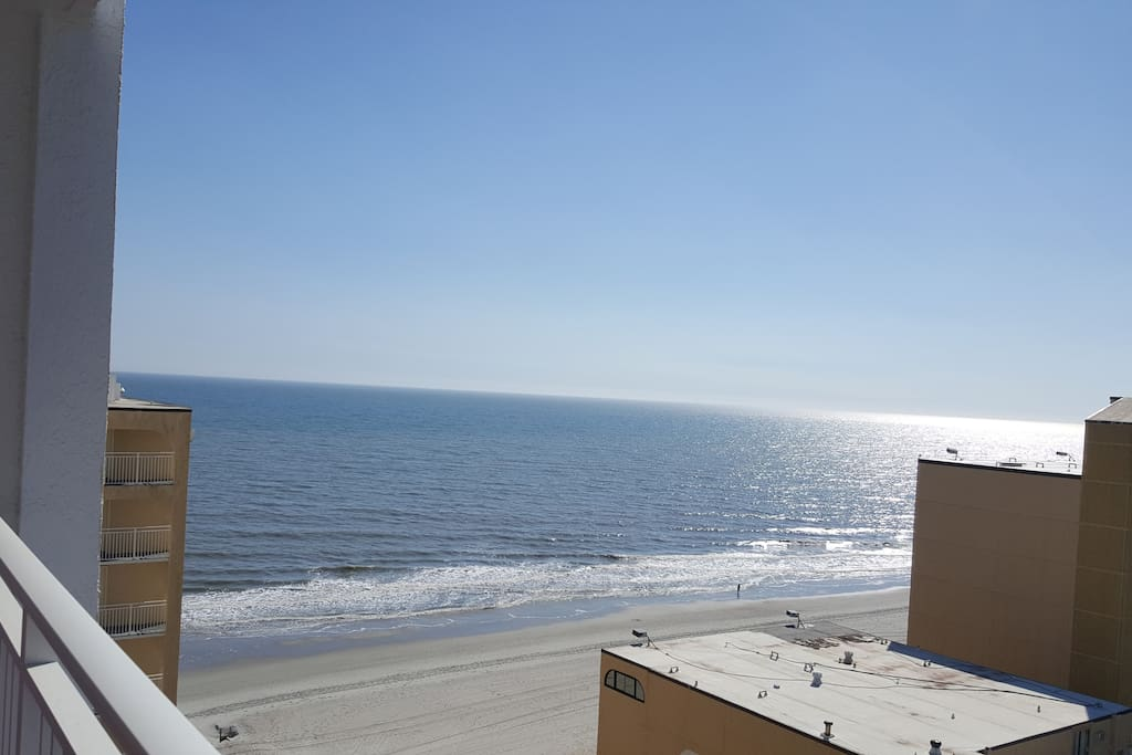 Enjoy a view of the ocean from the 12th floor balcony.