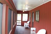 Screened in porch for evening mountain views