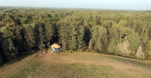 Rustic & Cozy Off-Grid Yurt in the North Woods