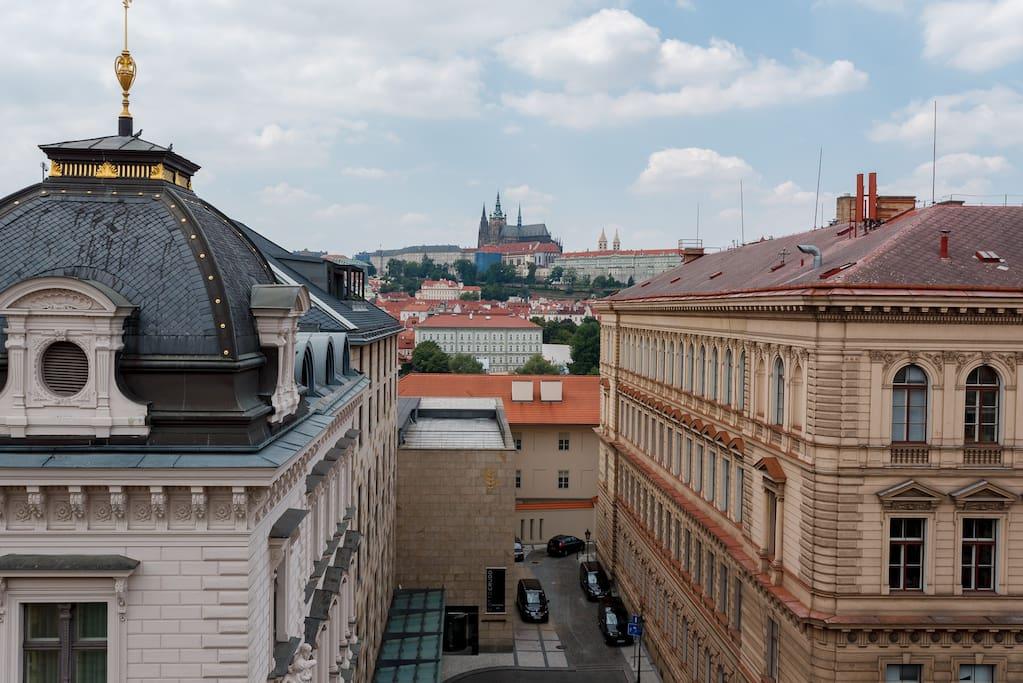 view - prague castle
