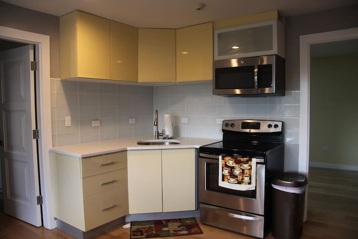 New Luxury 2 Bedroom 15 Mins to O'Hare - Stone Park - Appartement