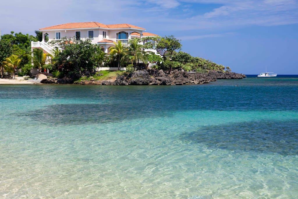 Coral Vista Villas from Half Moon Bay Beach