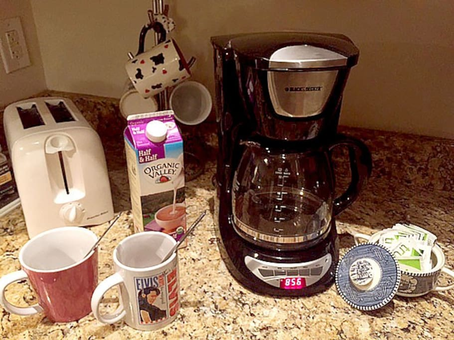 Help yourself to a cup of coffee! It's a staple at my house.