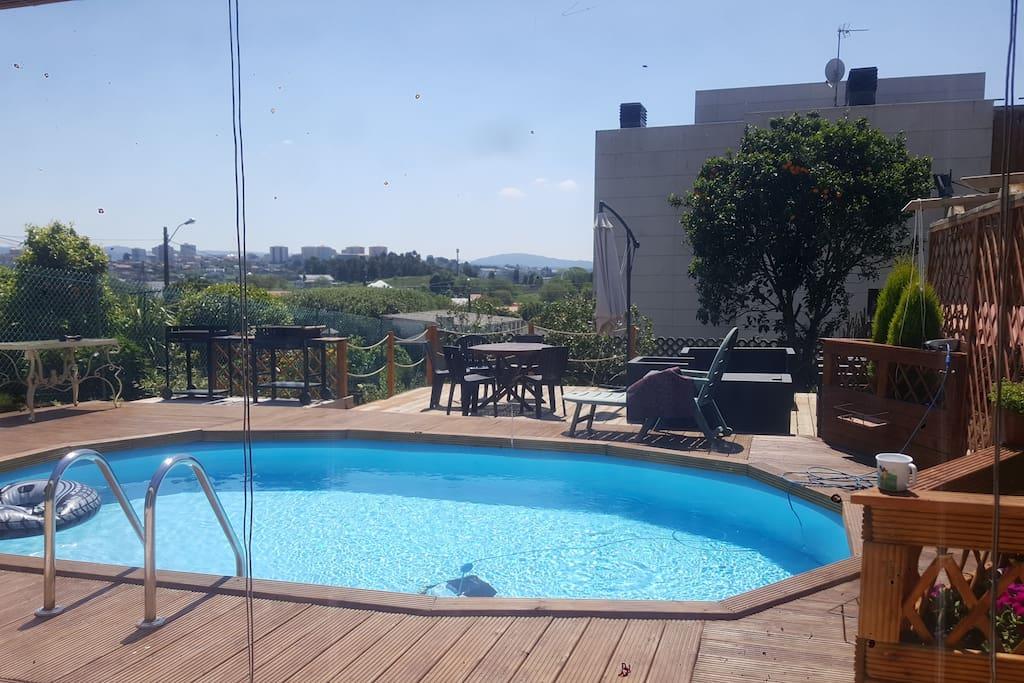 duplex con piscina comunitaria en casa de campo houses