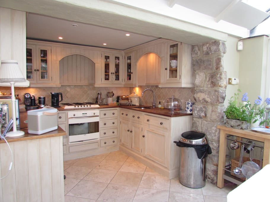 "Well equipped kitchen with dining for 8 with ""brand new"" oven and gas hob"
