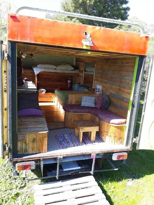 tiny house stay on permaculture farm wohnwagen zur miete in burnside westaustralien australien. Black Bedroom Furniture Sets. Home Design Ideas