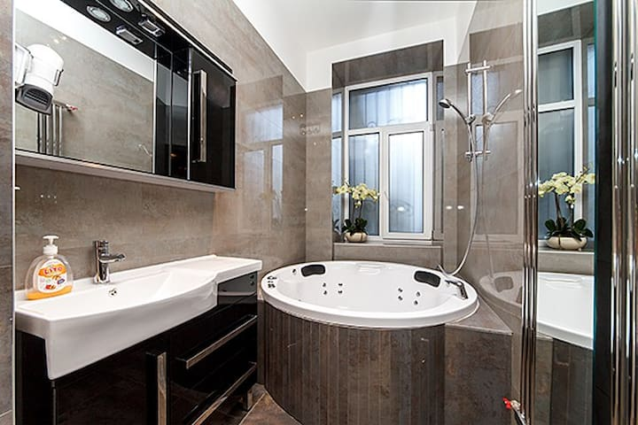 ★New luxury Jacuzzi studio Passage★Best location!★ - Kiev - Apartamento