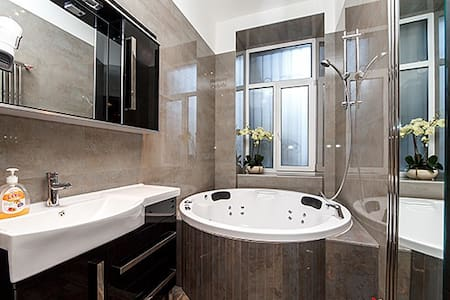 ★New luxury Jacuzzi studio Passage★Best location!★ - Kiev - Appartement