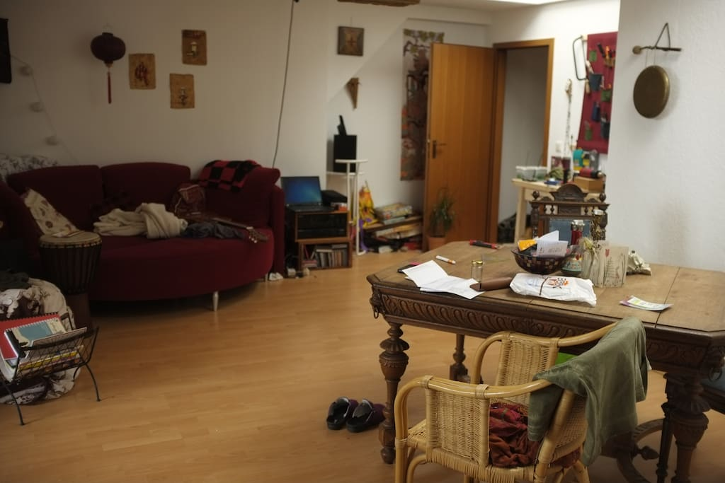 Living area - a bit chaotic today;)