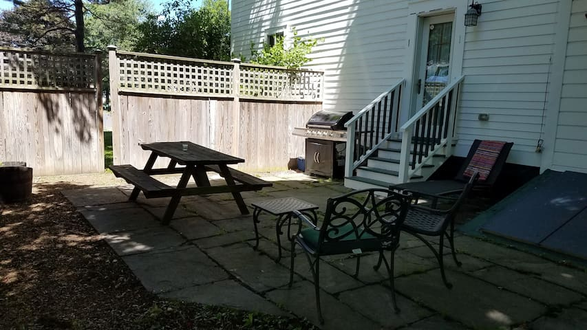 Patio gives you a nice space to BBQ and enjoy the outdoors.