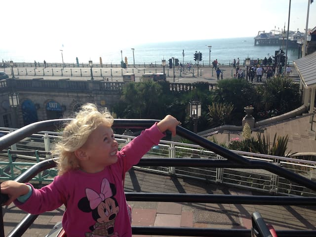 Enjoy an open top bus ride around Brighton or to its surroundings such as Devils Dyke(there a pub/restaurant the top!)