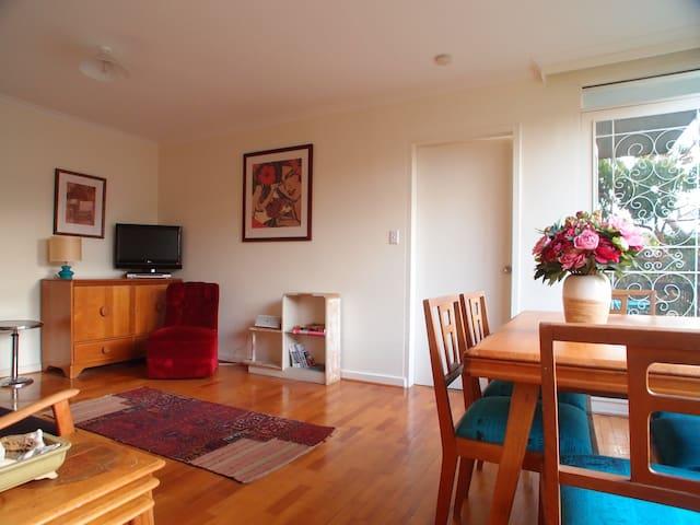 Living room with original mid century furniture
