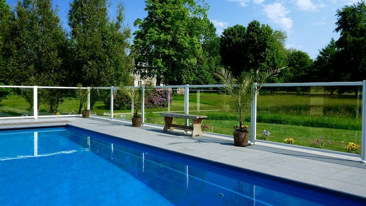 Manoir convivial w: Piscine/Jardin-Parfait Weekend