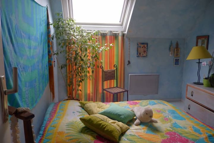 Sunny bedroom in a flat 8mns Disney - Esbly - Daire