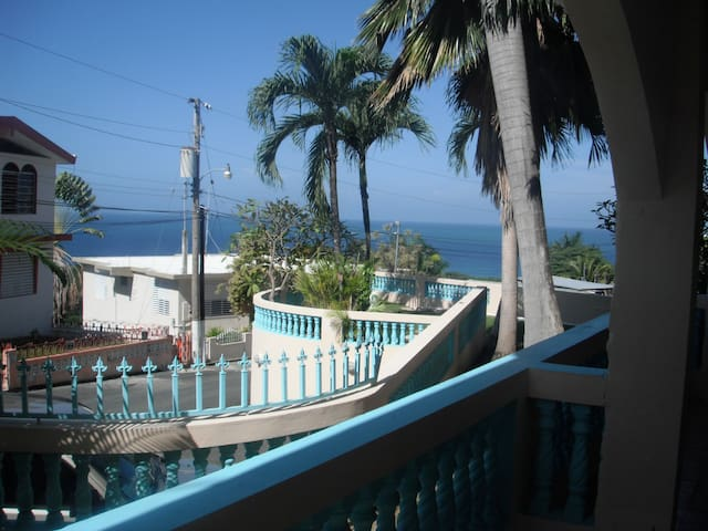 View from upper terrace. Also has a hammock