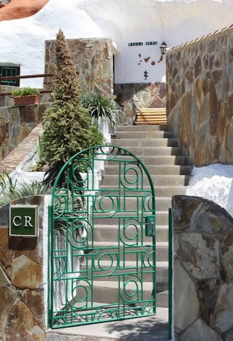 Entrance to Villa Alta