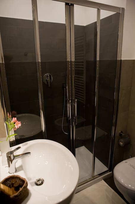 your private bathroom with a big shower