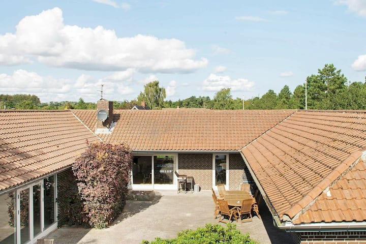 Spacious Holiday Home in Orsted Jutland with Pool