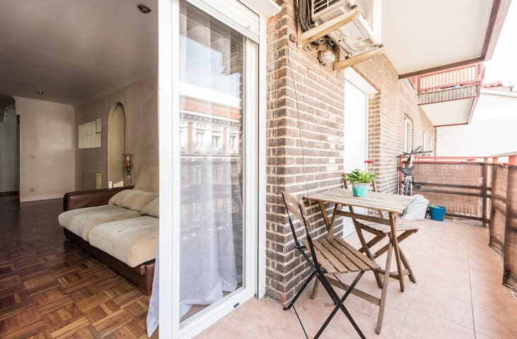 Habitación privada con terraza a 10 minutos de Sol - Madrid - Appartement