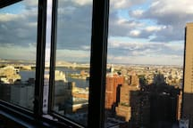 from your room