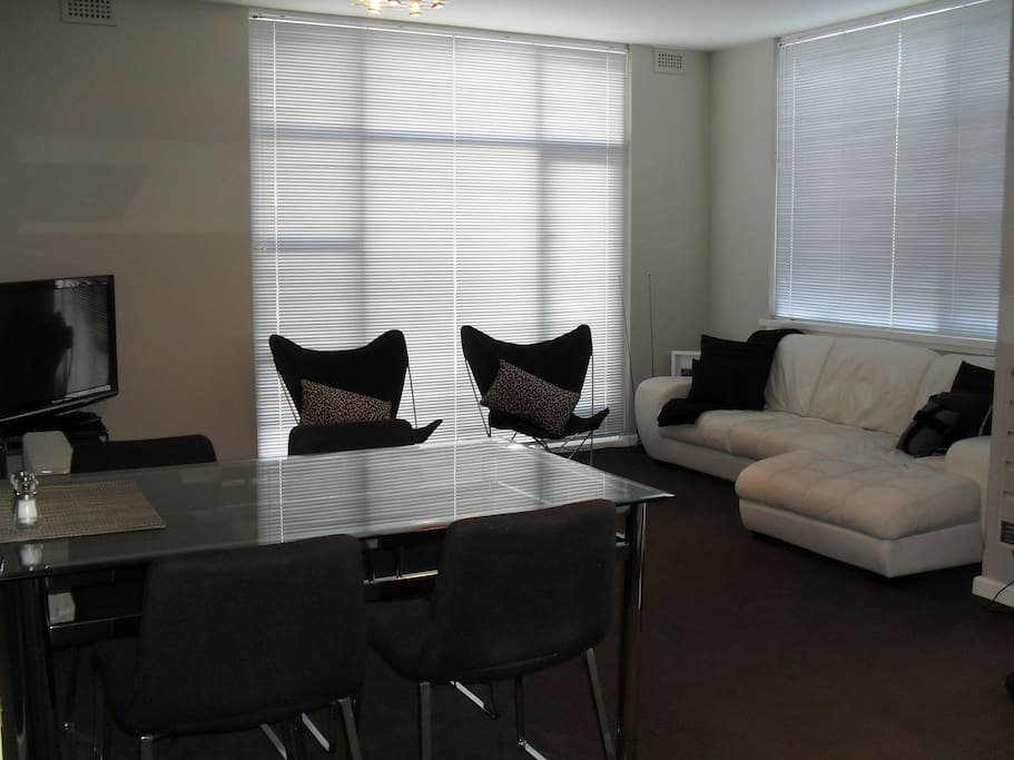 Roomy uncluttered lounge dining