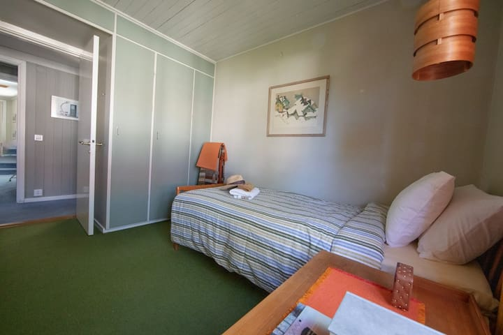 Bedroom 2. Quiet and with generous wardrobes.
