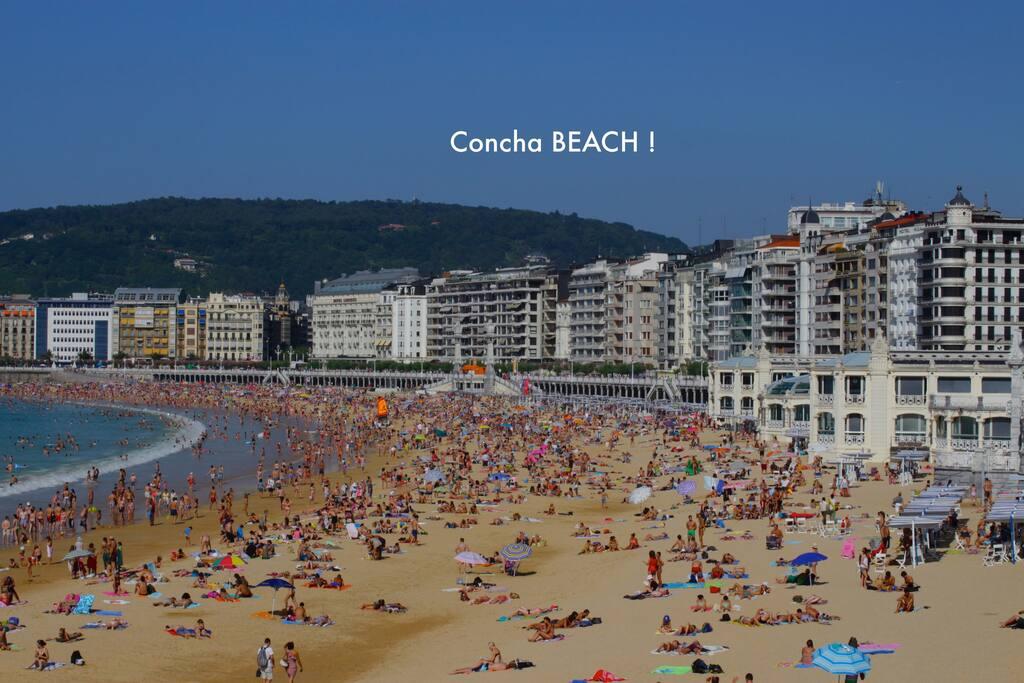 Concha Beach!