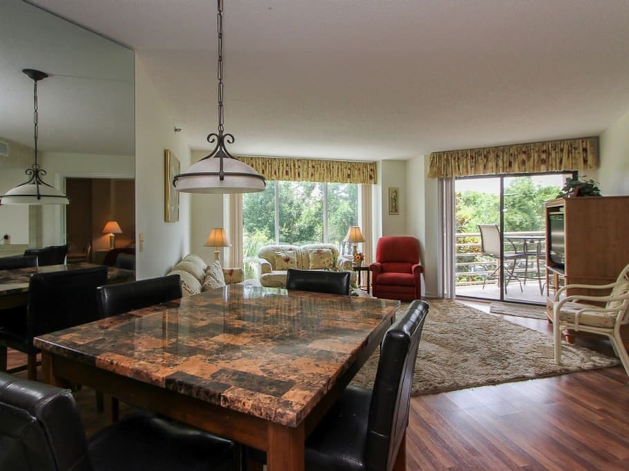 Dining and Living Area at 3228 Villamare