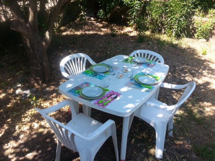 Jardinet réservé à la location