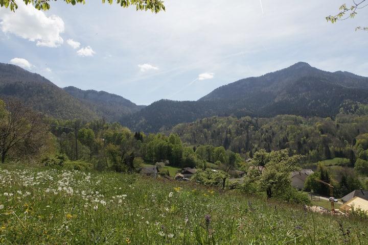 Petit gîte à la ferme Massif Bauges calme, nature