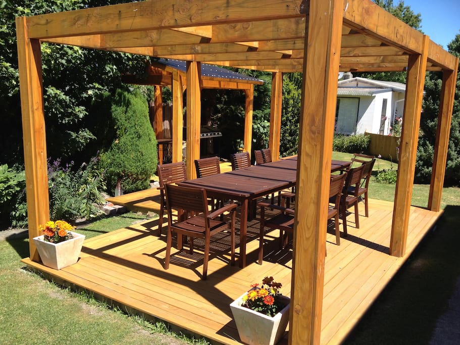 Outdoor BBQ Dining Area