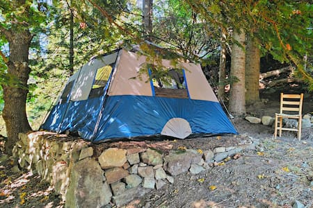 Serene Forest Wall Tent 10'x14' - Deer Harbor - 帐篷