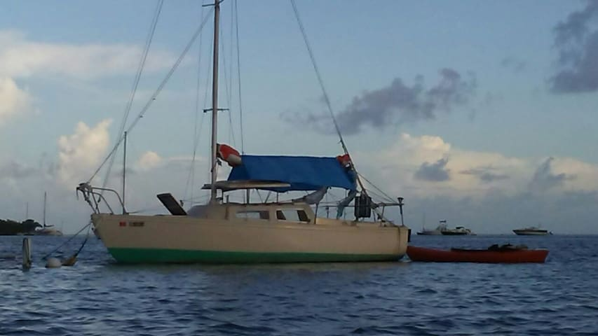 Cozy 22 Foot Eco Sailboat w/Kayaks - Cayo Os - Vaixell