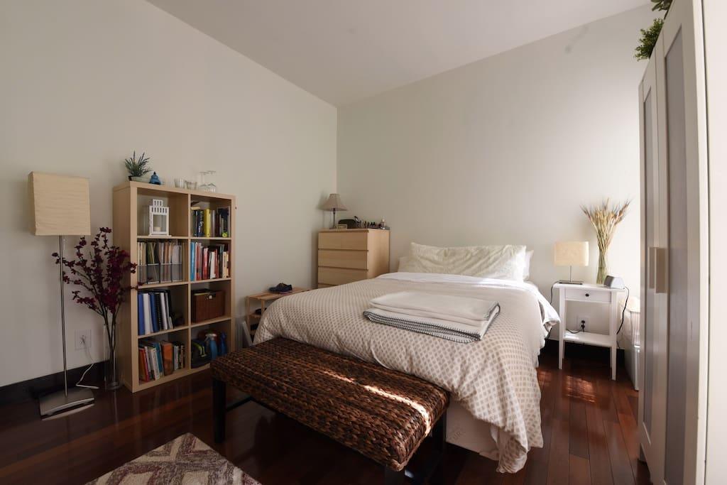 Peaceful bedroom.